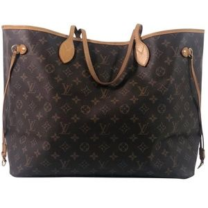 Louis Vuitton Monogram Neverfull GM with Beige